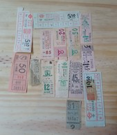 10 LOT OF 14, TICKETS OF BUS, ISRAEL, ITALY,  AND ODETHS. - Titres De Transport