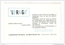 Buvard Loraga - Laboratoire Substentia - Très Bon état - Produits Pharmaceutiques