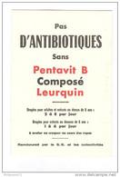 Buvard Pentavit B - Laboratoire Leurquin - Très Bon état - Produits Pharmaceutiques