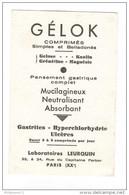 Buvard Gélok - Laboratoire Leurquin - Très Bon état - Produits Pharmaceutiques