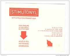 Buvard Stimutonyl - Laboratoire Toraude - Très Bon état - Droguerías