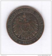 1 Pysa Ostafrikanische 1890 - Wilhelm II - TTB - East Germany Africa