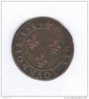 Double Tournoi Henri III 1584 A - 1574-1589 Henri III
