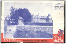 Buvard MAZDA - Chateau De Pompadour - Bon état - Batterie