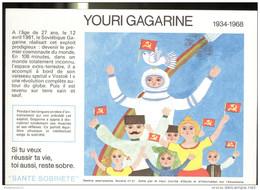 Buvard Santé Sobriété - Haut Comité D'éude Sur L'Alcolisme - Youri Gagarine - Très Bon état - Alimentare