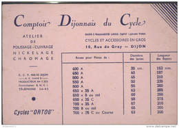 Buvard Comptoir Dijonnais Du Cycle - Dijon 21 - Très Bon état - Moto & Vélo