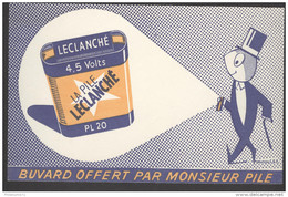 Buvard Leclanché - Très Bon état - Piles