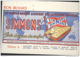 Buvard Matelas Simmons - Très Bon état - Papel Secante