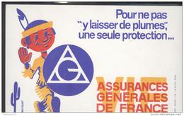 Buvard AGF Assurances Générales De France - Très Bon état - Buvards, Protège-cahiers Illustrés