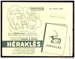 Buvard Héraklès - Préhistoire - 21  X 16 Cm - Papeterie