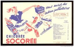 Buvard Chicorée Socorée - Vous Aurez Des Cadeaux Publicitaires - 20,5  X 12,3 Cm - Koffie En Thee