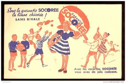 Buvard Chicorée Socorée - 20  X 12,5 Cm - Koffie En Thee