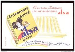 Buvard Alsa Levure Alsacienne - 21 X 13,5 Cm - Alimentaire