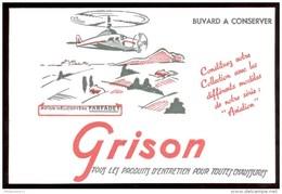 Buvard Cirage Grison - Série Aviation -Avion Hélicoptère Farfadet  - 21,1   X 13,7 Cm - Produits Ménagers