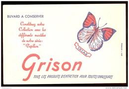 Buvard Cirage Grison - Série Papillon - Ixias - 21,2   X 13,6 Cm - Produits Ménagers