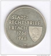 Médaille Suisse Stadt-rechtsbrief Erlach - 1266-1966 - Argent 900/1000 ème - Jetons & Médailles