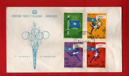(Riz2) SOMALIA - 1960 FDC. JEUX OLYMPIQUES De ROME. Yvert. Complète.  Vedi Descrizione - Somalia (1960-...)