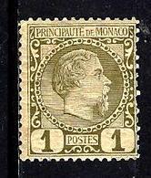MONACO 1* 1c Olive Prince Charles III - Monaco