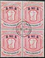 Montserrat   1983 Arms USED Block Of Four  Scott $30 - West Indies