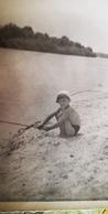 Soviet Beach - Petit Garçon Nu - Young Semi Naked Boy - Vintage Photography 1960s Old USSR Photo - Photos