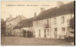 CPA Saint Bérain Sur Dheune - Place De La Poste - Circulée 1926 - France