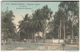 CPA Nigéria Lagos - Avenue De La Marina - Colorisée -  Circulée 1912 - Nigeria