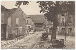 CPA Aisy Sur Armencon - Route De Chablis - Circulée 1929 - France