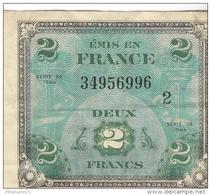 Billet 2 Francs 1944 Drapeau - 1944 Drapeau/France