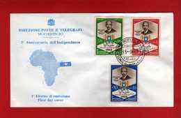 (Riz2) SOMALIA - 1963 FDC. 3° Anniversaire De L'Indépendance. Complète.  Vedi Descrizione - Somalia (1960-...)