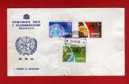 (Riz2) SOMALIA - 1966 FDC. NATIONS UNIES. Yvert 52 à 54. Complète.  Vedi Descrizione - Somalia (1960-...)