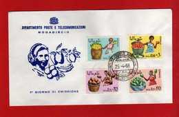 (Riz2) SOMALIA - 1968 FDC. AGRICULTURE. Yvert 83 à 86. .  Vedi Descrizione - Somalia (1960-...)