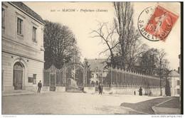 CPA Macon - La Préfecture - L'Entrée -  Circulée 1912 - Macon