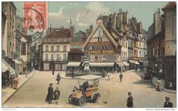CPA Dijon - Place François Rude  -  Circulée 1908 - Dijon