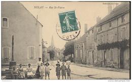 CPA Nolay - Rue St Pierre - Circulée 1910 - France