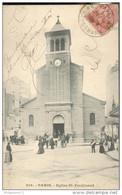 CPA Paris - Eglise Saint Ferdinand - Dos Non Divisé - Circulée 1906 - Francia