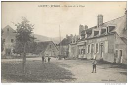 CPA Lucenay L' Eveque  - Uncoin De La Place - Circulée 1918 - Altri Comuni