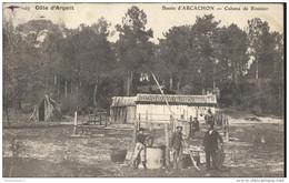 CPA Bassin D'Arcachon - Cabanes De Résinier - Côte D'Argent - Circulée 1909 - Arcachon