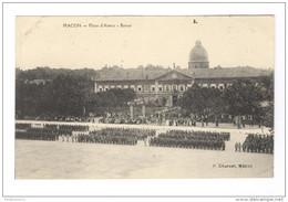 CPA Mâcon - Place D'Armes-Revue - Dos Divisé - Circulée - Macon