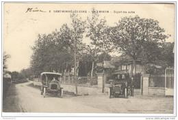 CPA Saint Honoré Les Bains - Hotel Vaux Martin - Le Départ Des Autos - Circulée 1908 - Saint-Honoré-les-Bains