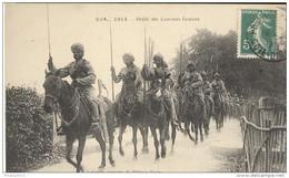 CPA 1914 - Défilé Des Lanciers Indiens - Dos Divisé - Circulée 1916 - Personnages