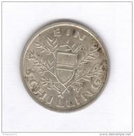 1 Schilling Autriche / Austria 1926 - Argent / Silver - Autriche