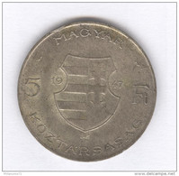 5 Florint Hongrie 1947 - Kossuth - Argent / Silver - Hungary