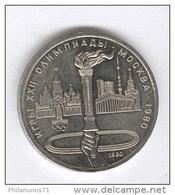 1 Rouble URSS / USSR 1980 - Flamme Des J.O. -  Y# 178 - Russie