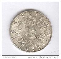25 Schilling Autriche / Austria 1969 - Peter Rosegger - Argent / Silver - TTB - Autriche