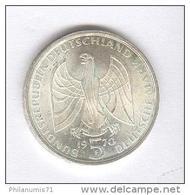 5 Mark Allemagne / Germany 1970 F  - Beethoven  - Argent / Silver - [ 7] 1949-… : RFA - Rép. Féd. D'Allemagne