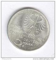 5 Mark Allemagne / Germany 1974 D  - Kant  - Argent / Silver TTB+ - [ 7] 1949-… : RFA - Rép. Féd. D'Allemagne