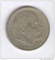 1 Rouble URSS / USSR 1970 - Centenaire De La Naissance De Lénine - Y# 141 - Russland