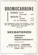 Buvard BromoCarbone - Laboratoire Leurquin - Très Bon état - Produits Pharmaceutiques