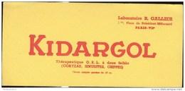 Buvard Kidargol  - Laboratoire  Gallier - Très Bon état - Produits Pharmaceutiques