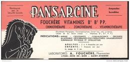 Buvard Pansarcine - Laboratoire Fouchère - Très Bon état - Droguerías